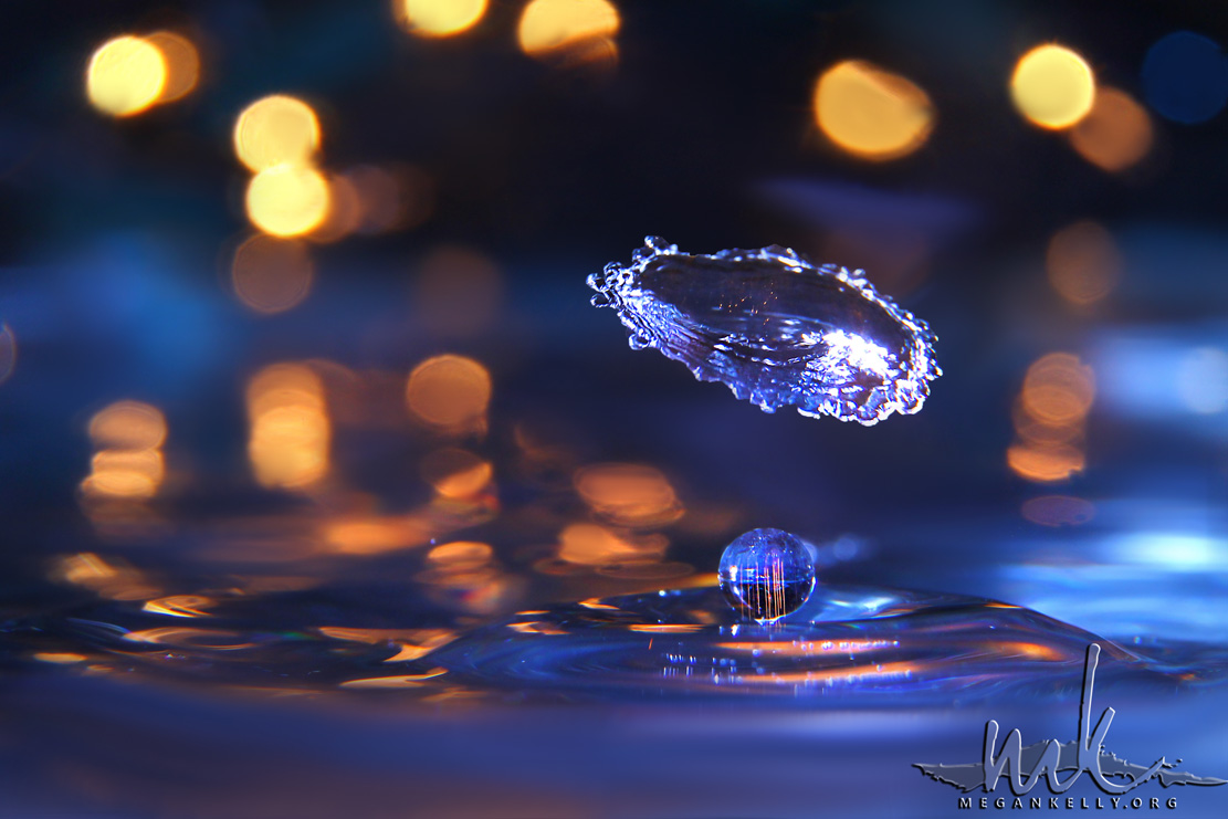 MeganKelly, Waterdrop, water drop, splash, crash, umbrella, color, macro