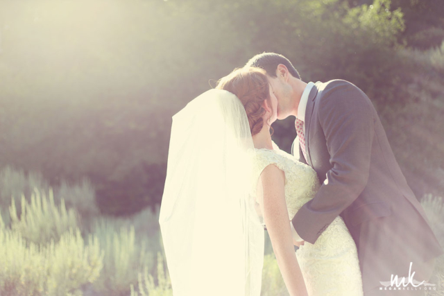 Megan Kelly - Bride and Groom at Little Cottonwood Canyon Utah Summer