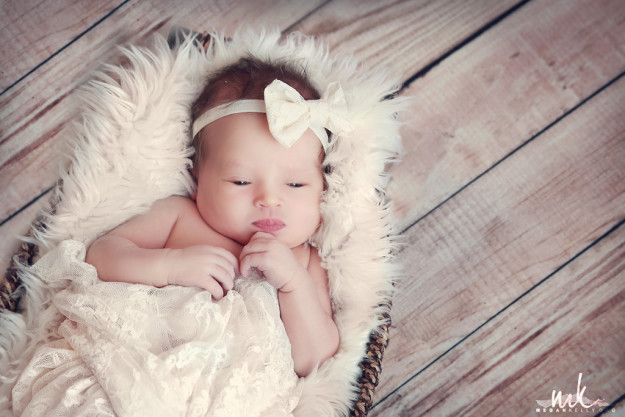 Megan Kelly - Brielle's Newborn Baby Photography, poses, baby girl, props