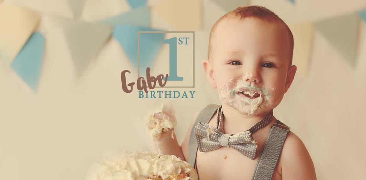 Gabe's 1st Birthday Cake Smash!