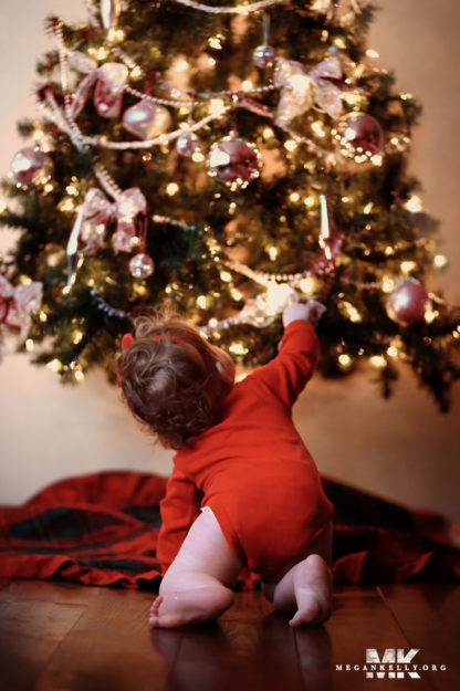 Megan Kelly, Michigan, Christmas Mini Shoot, Baby, Toddler, Lights